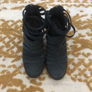Free people hybrid strappy booties